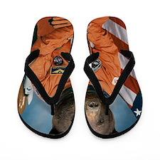 Bear Astronaut Flip Flops