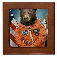 Bear Astronaut Framed Tile