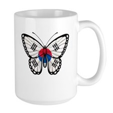 South Korean Flag Butterfly Mugs