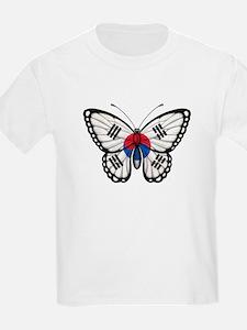 South Korean Flag Butterfly T-Shirt