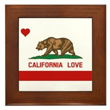 Funny I love california Framed Tile