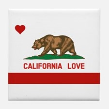 Cute Hollister california Tile Coaster