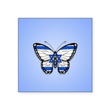 Israeli Flag Butterfly on Blue Sticker