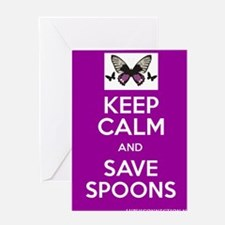 Keep Calm & Save Spoons Greeting Card