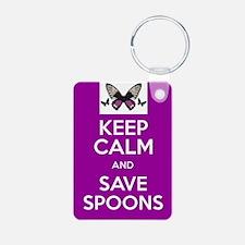 Keep Calm & Save Spoons Keychains