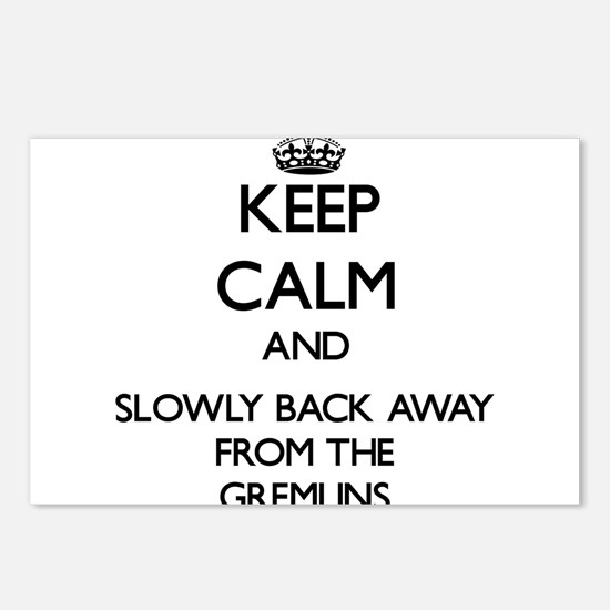 Keep calm and slowly back away from Gremlins Postc