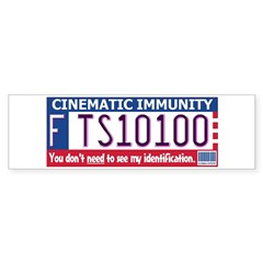 Cinematic Immunity Bumper Sticker (Star Wars)
