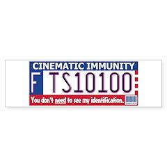 Cinematic Immunity Bumper Sticker (Star Wars)