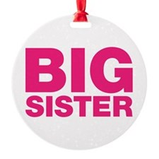 Big Sister Pink Design Ornament