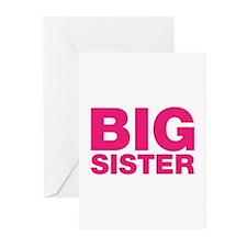 Big Sister Pink Design Greeting Cards