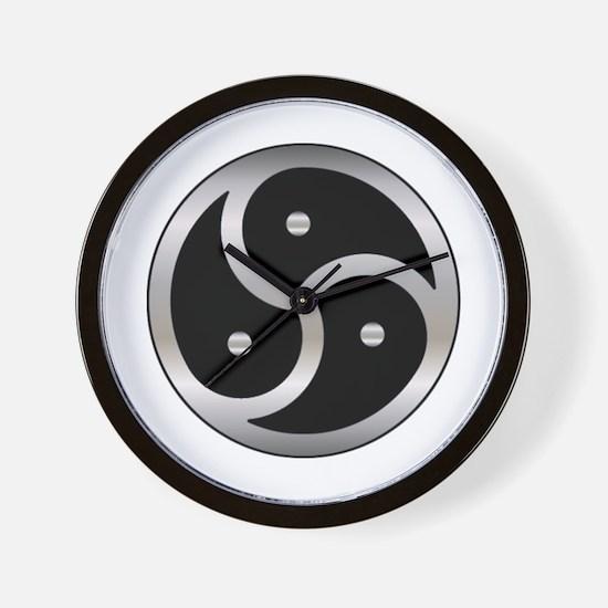 BDSM triskelion Wall Clock