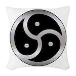 BDSM triskelion Woven Throw Pillow
