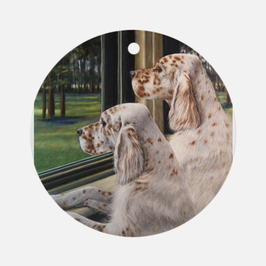 English Setter Puppies.JPG Ornament (Round)