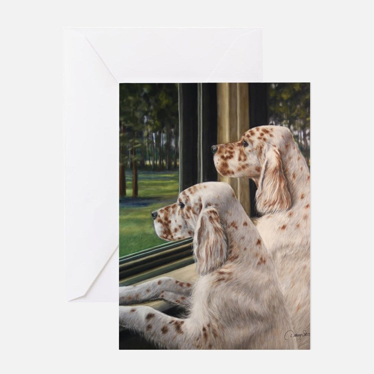 English Setter Puppies.JPG Greeting Cards