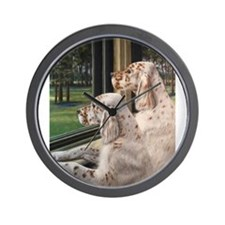 English Setter Puppies.JPG Wall Clock