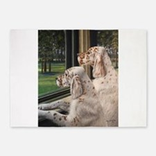 English Setter Puppies.JPG 5'x7'Area Rug