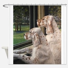 English Setter Puppies.JPG Shower Curtain
