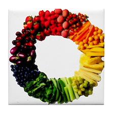 Circle of Fruit n Veg Tile Coaster