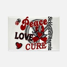 Sickle Cell Anemia PeaceLoveCure2 Rectangle Magnet