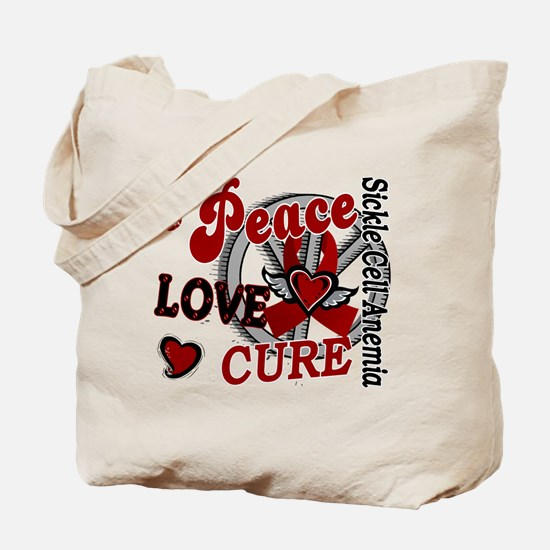 Sickle Cell Anemia PeaceLoveCure2 Tote Bag