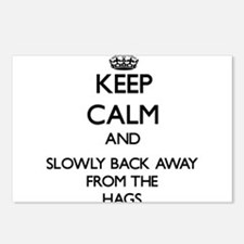 Keep calm and slowly back away from Hags Postcards