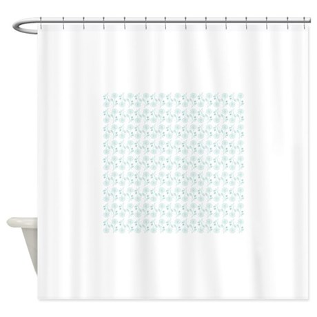 Cute Blue And White Floral Pattern Shower Curtain By
