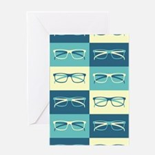 Hipster Glasses Greeting Cards
