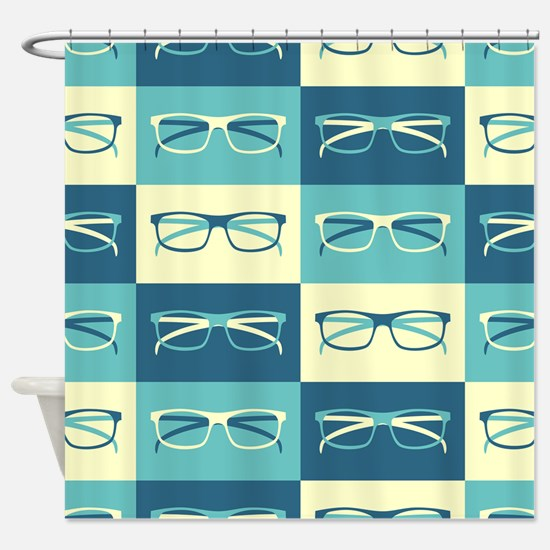 Hipster Glasses Shower Curtain