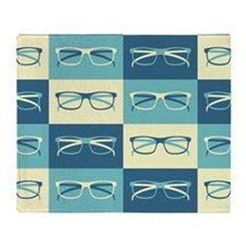 Hipster Glasses Throw Blanket