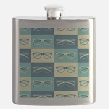 Hipster Glasses Flask