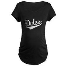 Dulce, Retro, Maternity T-Shirt
