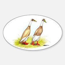 Runner Ducks Oval Decal