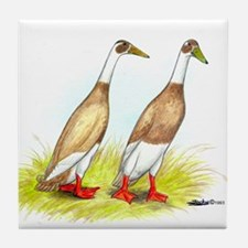 Runner Ducks Tile Coaster