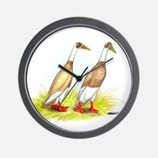 Runner Ducks Wall Clock