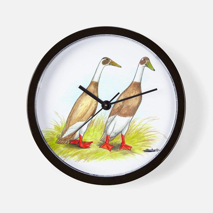 Runner Ducks Wall Clock