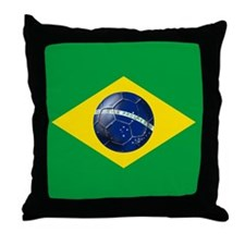 Brasileira de Futebol Throw Pillow