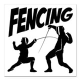 Fencing Square Car Magnets