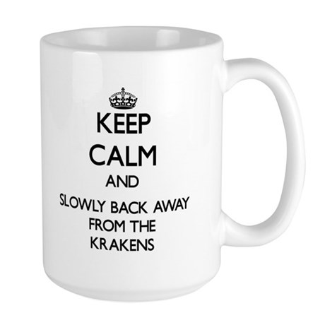 Keep calm and slowly back away from Krakens Mugs