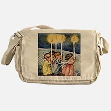 lovely christmas angels Messenger Bag