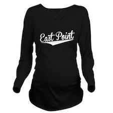 East Point, Retro, Long Sleeve Maternity T-Shirt