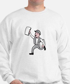 Newsboy Selling Newspaper Cartoon Jumper