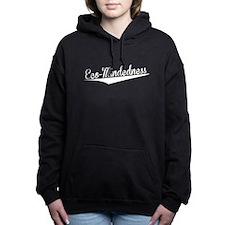 Eco-Mindedness, Retro, Women's Hooded Sweatshirt