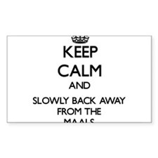 Keep calm and slowly back away from Maals Decal