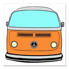 "camper van Square Car Magnet 3"" x 3"""