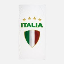 Soccer Crest ITALIA gold Beach Towel