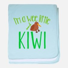 Im a wee little kiwi (New Zealand map) baby blanke