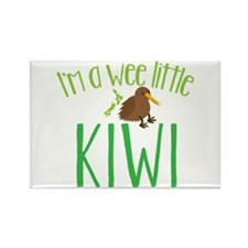 Im a wee little kiwi (New Zealand map) Magnets