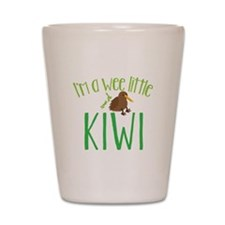 Im a wee little kiwi (New Zealand map) Shot Glass