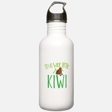 Im a wee little kiwi (New Zealand map) Sports Wate
