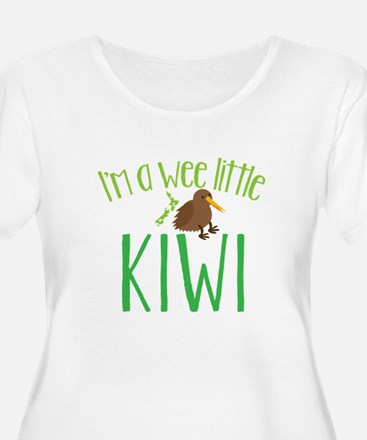 Im a wee little kiwi (New Zealand map) Plus Size T